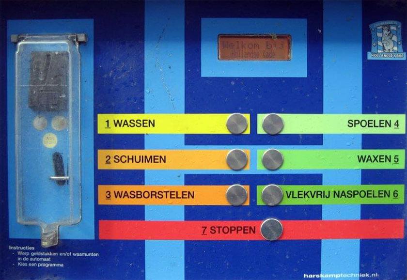 Bedieningspaneel autowasboxen Hollandse Kade Abcoude