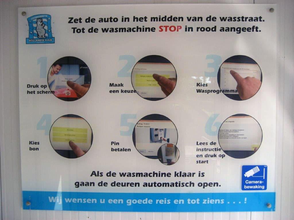 Bedieningsinstructie autowasstraat Hollandse Kade Abcoude