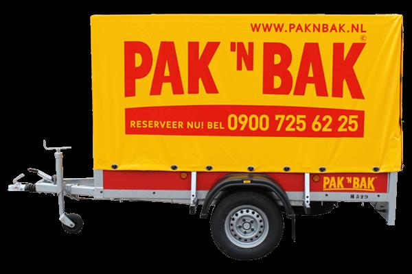 Pak 'n Bak grote aanhangwagen met huif geremd