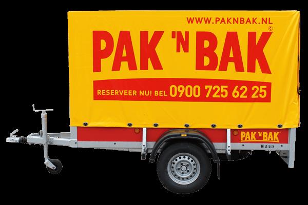 Pak 'n Bak grote aanhangwagen met huif ongeremd